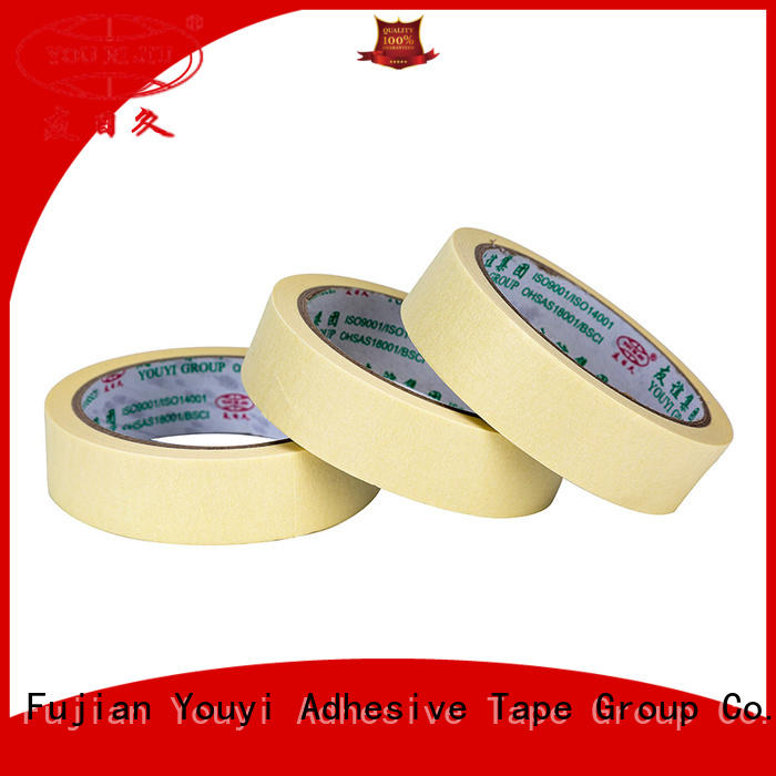 Yourijiu high adhesion masking tape price supplier for woodwork