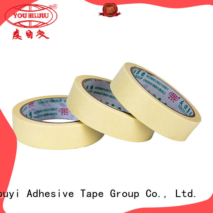 Yourijiu high adhesion paper masking tape supplier for woodwork