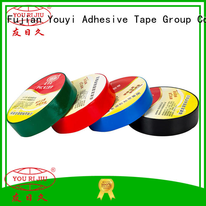 Yourijiu moisture proof pvc adhesive tape wholesale for wire joint winding