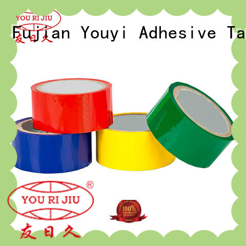 Yourijiu odorless colored tape supplier for decoration bundling
