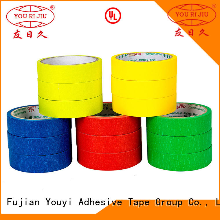 Yourijiu good chemical resistance adhesive masking tape easy to use for home decoration