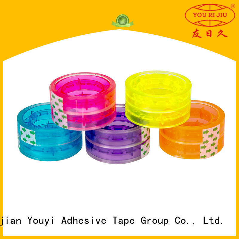 Yourijiu odorless bopp packing tape high efficiency for decoration bundling