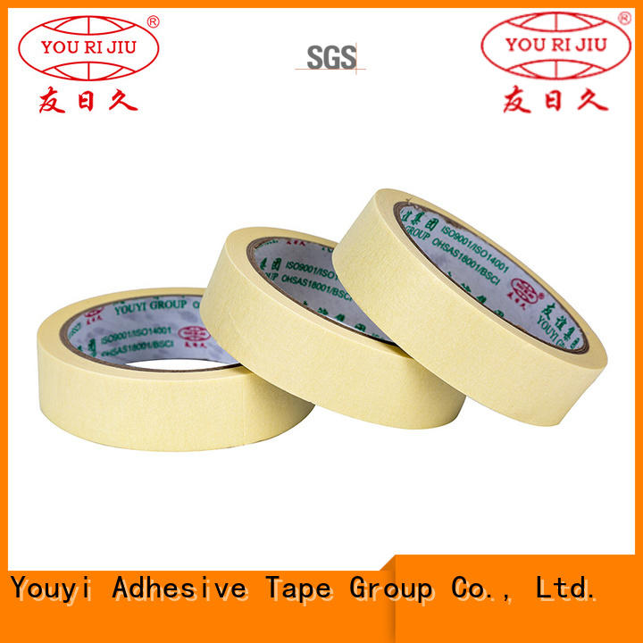 Yourijiu good chemical resistance masking tape wholesale for light duty packaging
