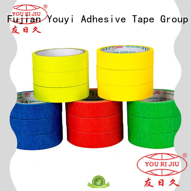 Yourijiu high adhesion masking tape price directly sale for home decoration