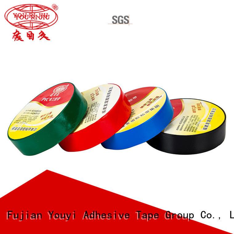 Yourijiu anti-static pvc adhesive tape factory price for insulation damage repair