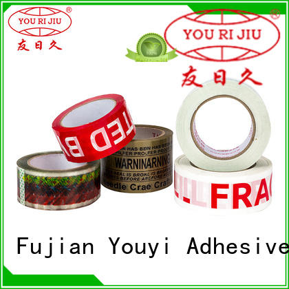 Yourijiu colored tape supplier for strapping