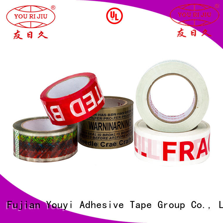 Yourijiu odorless bopp stationery tape high efficiency for strapping