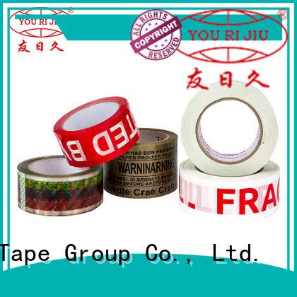 Yourijiu bopp printed tape anti-piercing for auto-packing machine