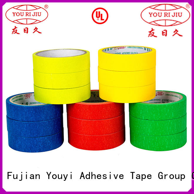 Yourijiu good chemical resistance masking tape price wholesale for light duty packaging