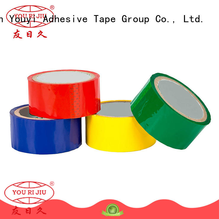 Yourijiu odorless colored tape high efficiency for carton sealing