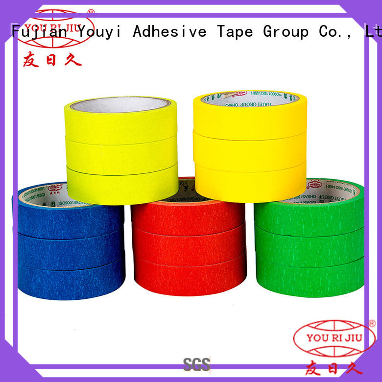 Yourijiu high adhesion masking tape price easy to use for light duty packaging