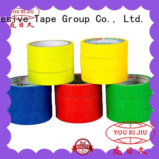 high adhesion blue masking tape supplier for light duty packaging Yourijiu