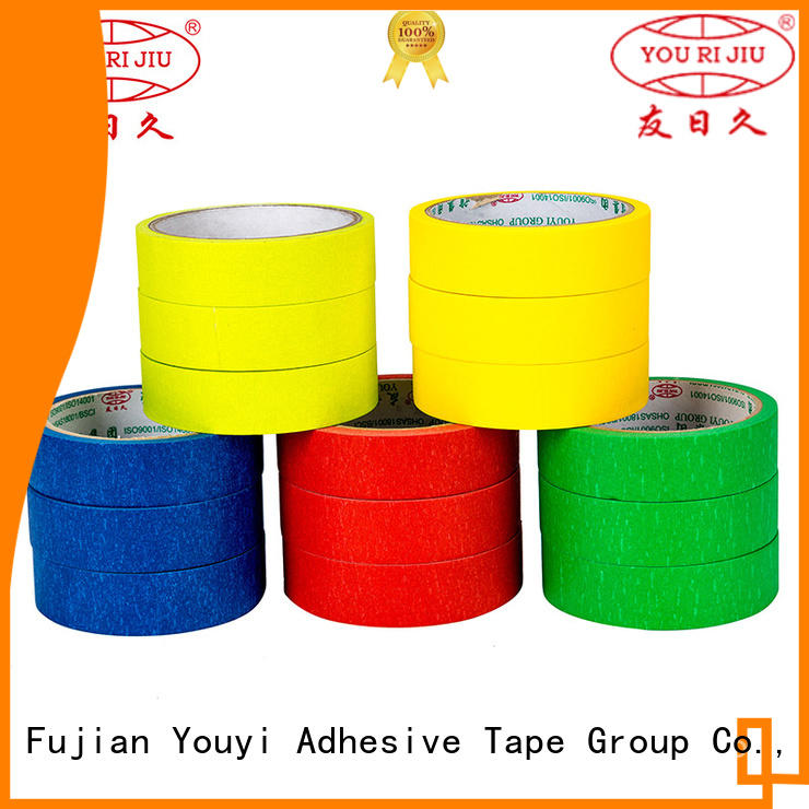 Yourijiu no residue masking tape wholesale for light duty packaging