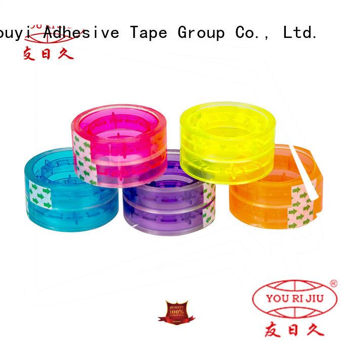 transparent colored tape anti-piercing for carton sealing