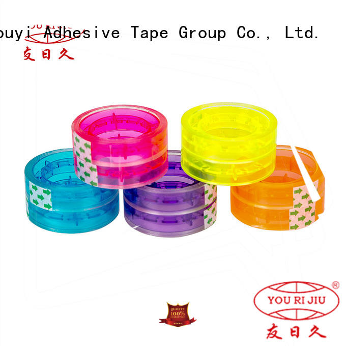 transparent colored tape anti-piercing for carton sealing
