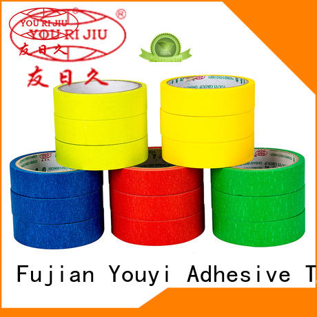 Yourijiu good chemical resistance paper masking tape easy to use for light duty packaging