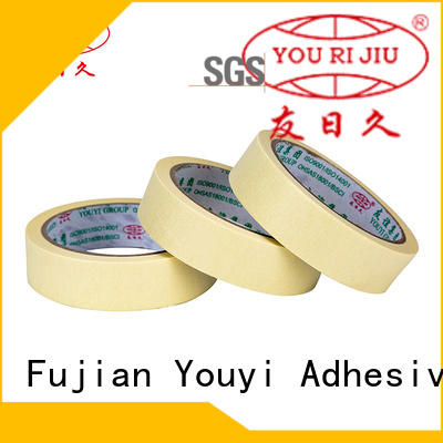 Yourijiu adhesive masking tape easy to use for light duty packaging