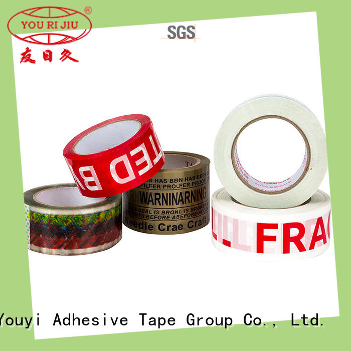 transparent bopp printed tape factory price for auto-packing machine
