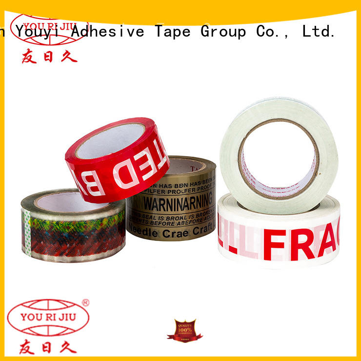 Yourijiu bopp printed tape anti-piercing for strapping