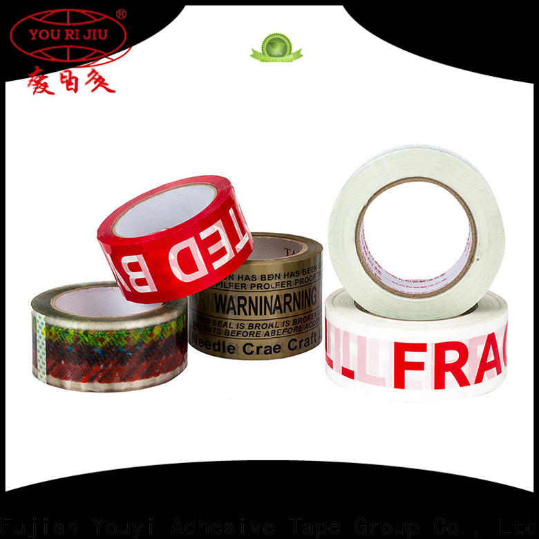 Yourijiu transparent bopp printed tape anti-piercing for strapping