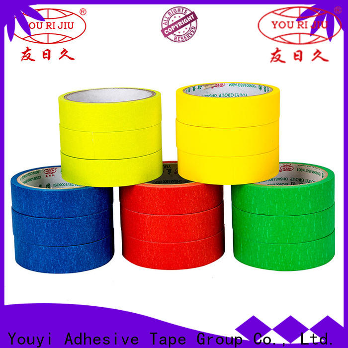 Yourijiu high adhesion adhesive masking tape directly sale for home decoration
