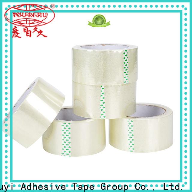Yourijiu good quality bopp stationery tape factory price for carton sealing