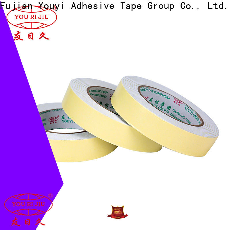 Yourijiu aging resistance double sided foam tape manufacturer for office
