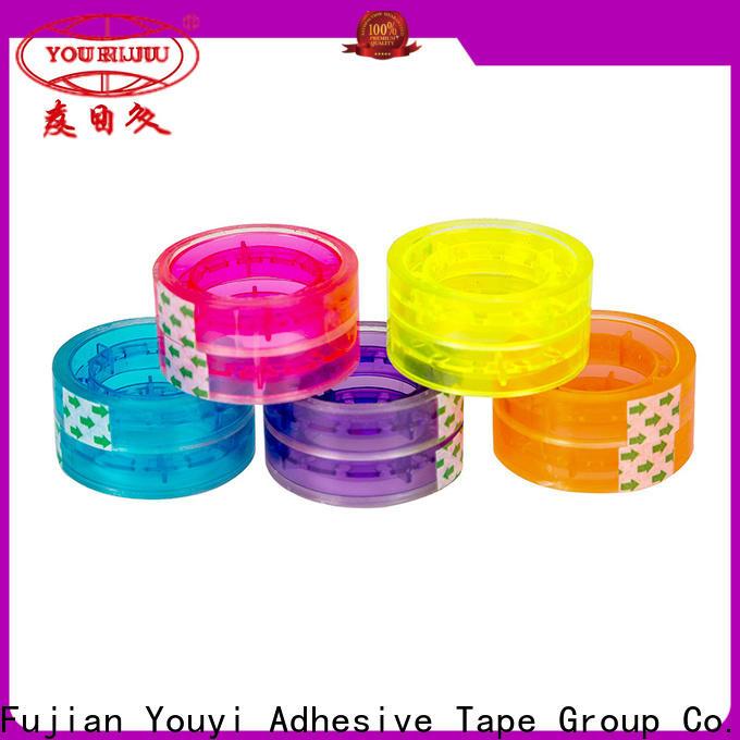 Yourijiu non-toxic bopp adhesive tape factory price for auto-packing machine