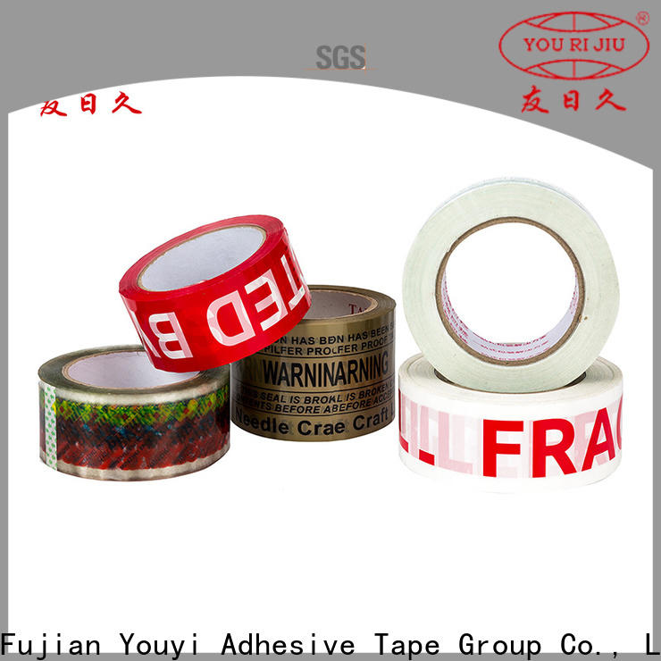 Yourijiu transparent bopp packing tape high efficiency for carton sealing