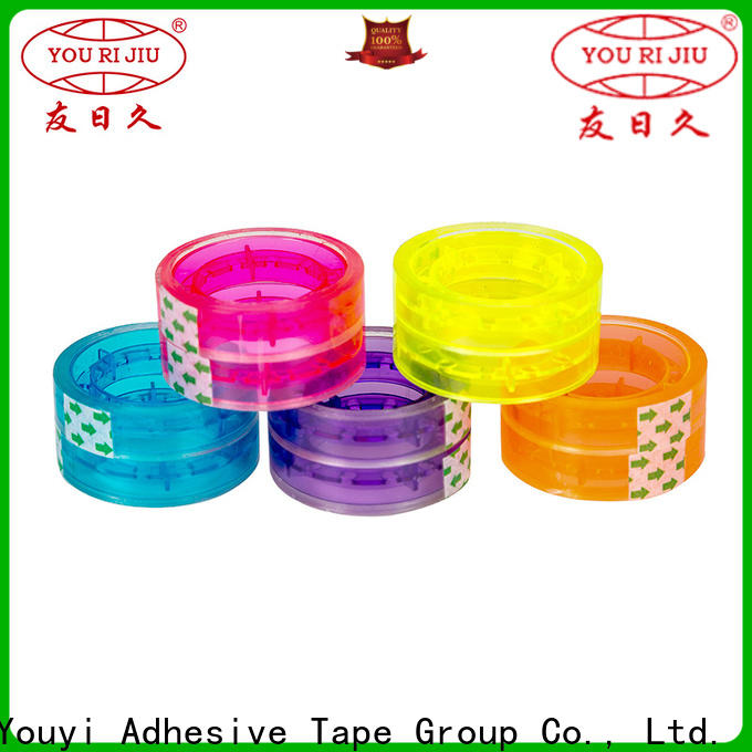 non-toxic colored tape high efficiency for carton sealing