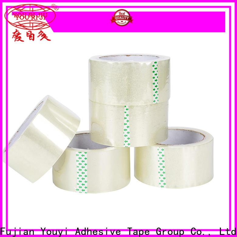 Yourijiu transparent bopp printed tape factory price for carton sealing