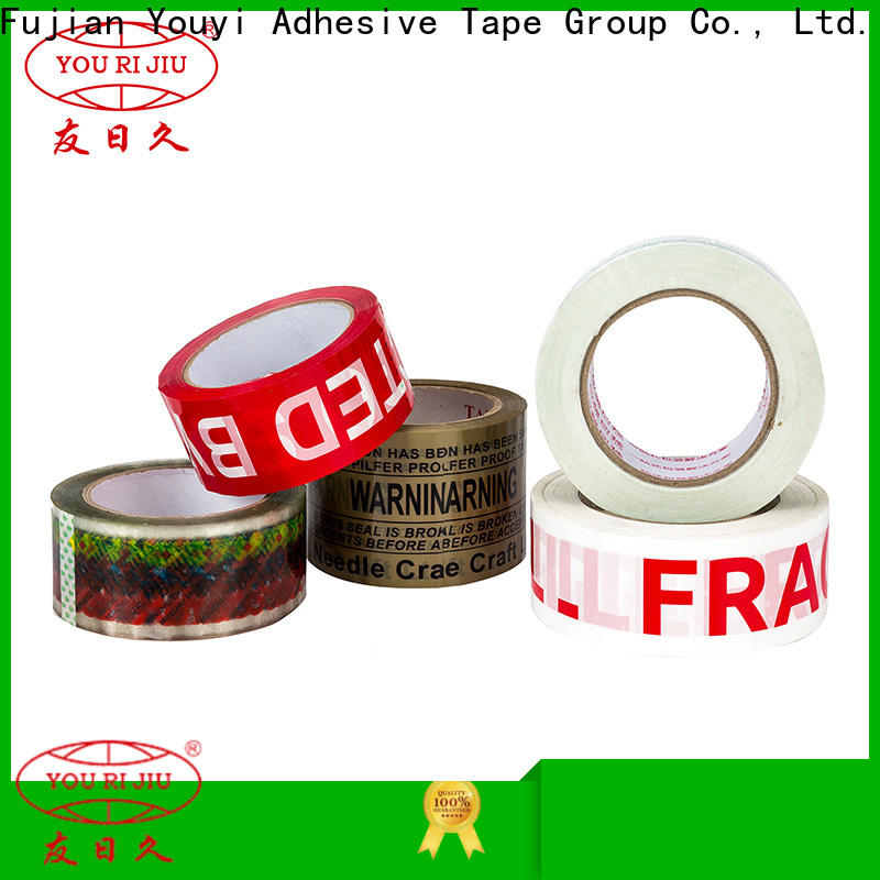 Yourijiu bopp packing tape supplier for strapping