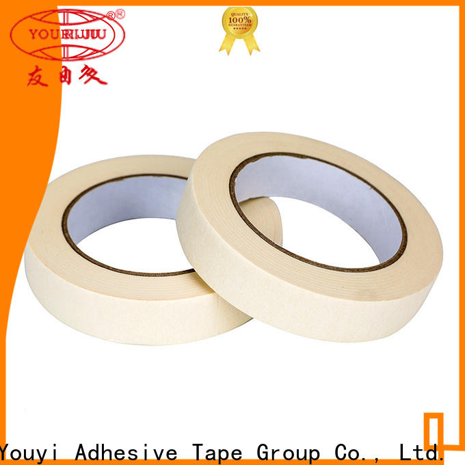 Yourijiu high adhesion paper masking tape directly sale for home decoration