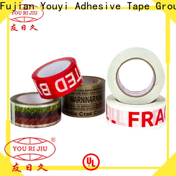 Yourijiu odorless bopp tape high efficiency for carton sealing
