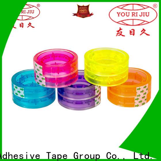 Yourijiu transparent bopp adhesive tape factory price for carton sealing
