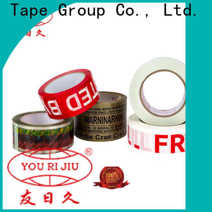 Yourijiu non-toxic bopp packing tape supplier for decoration bundling